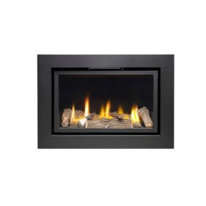 Ignite Pinnacle 600 Black Remote Control Inset Gas Fire