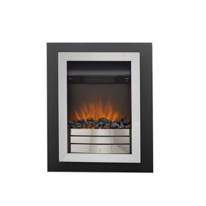 Image of Sirocco Easton Black Chrome effect Electric Fire