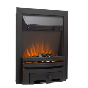 Image of Sirocco Westerly Black Switch Inset Electric fire