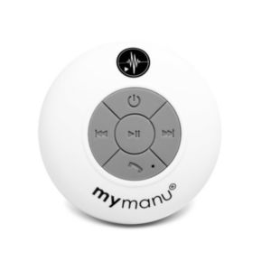Mymanu Waterproof Bluetooth Shower Speaker  White