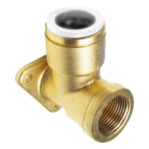 View JG Speedfit Brass Push Fit Wall Plate Elbow (Dia)15 mm details