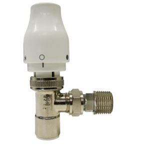 View Speedfit White & Chrome Effect Angled Thermostatic Radiator Valve details