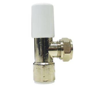 View Speedfit White & Chrome Effect Angled Radiator Valve details