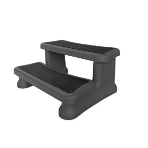 Image of Canadian Spa Black Plastic Spa step