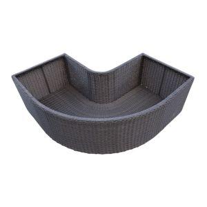 Image of Brown Spa corner planter (H)550mm (L)430mm