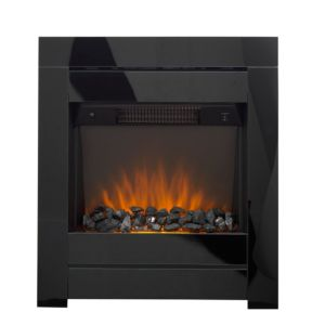 Image of Cristal Black Glass LED Internal Electric Fire