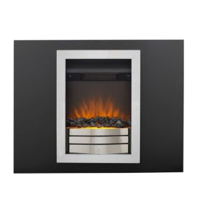 Image of Easton Landscape Black & Chrome LED Internal & External Electric Fire