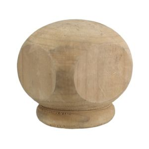 View Algonquin Authentic Alonquin Ball Top Green Softwood Post Cap, (W)76mm (H)90mm details