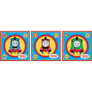 View Fun4Walls Thomas The Tank Engine Self Adhesive Wall Stickers (L)300mm (W)300mm details