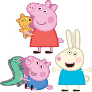 View Fun4Walls Peppa Pig Self Adhesive Wall Stickers (L)300mm (W)340mm details