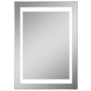 Lumino Coro Illuminated Bathroom Rectangular Mirror with Shaver Socket (W)50cm (H)70cm