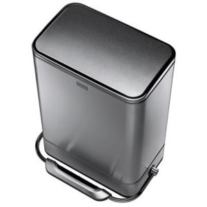 View Simplehuman Modern Stainless Steel Soft Close Kitchen Pedal Bin 38L details