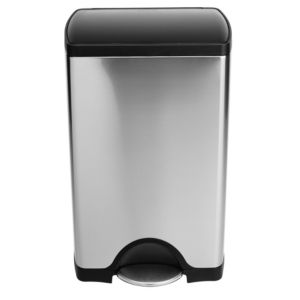 View Simplehuman Stainless Steel Kitchen Pedal Step Can 38L details