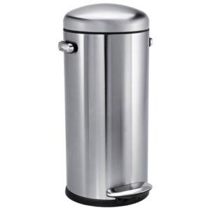 View Simplehuman Stainless Steel Soft Close Kitchen Pedal Bin 30L details