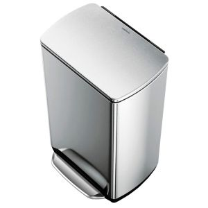 View Simplehuman Stainless Steel Soft Close Kitchen Pedal Bin 38L details
