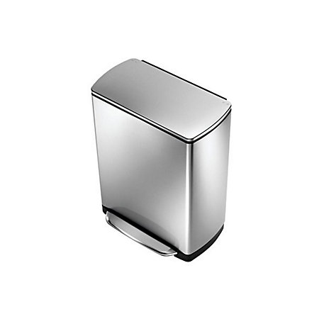 0 00. simplehuman Stainless Steel Rectangular Soft Close Kitchen Pedal