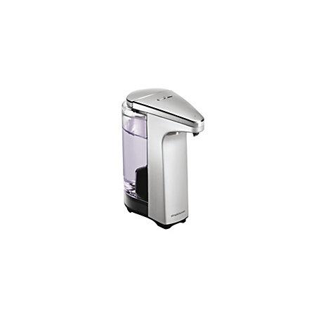 Simplehuman brushed nickel sensor soap pump dispenser departments diy at b q - Brushed nickel soap dispenser pump ...