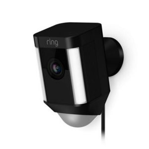 Image of Ring Wired Black Spotlight camera