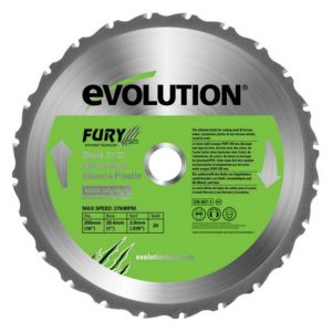 View Evolution FURY255MP Multi Purpose Blade details