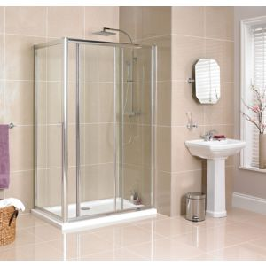 View B&Q Rectangular Shower Enclosure with Single Sliding Door (W)1200mm (D)760mm details