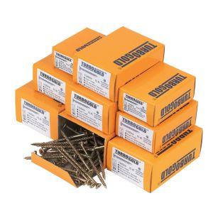 Image of TurboGold Carbon Steel Woodscrews Trade Pack Pack of 1400