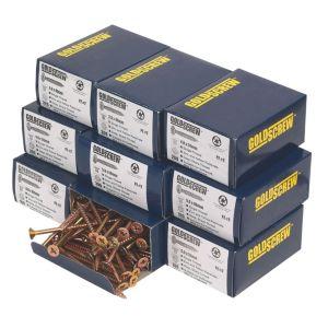 Image of Goldscrew Carbon Steel Woodscrews Trade Pack Pack of 1400