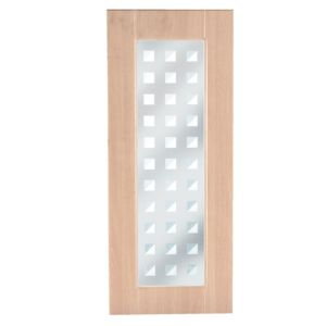 View IT Kitchens Chilton Beech Effect Glazed Door (W)300mm details