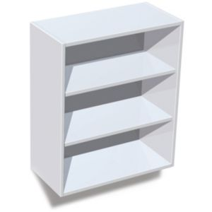 View IT Kitchens White Wall Unit Carcass (W)600mm details