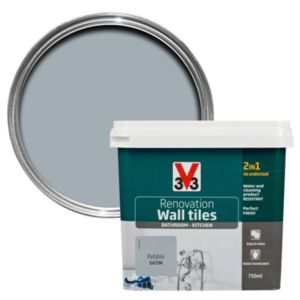 V33 Renovation Pebble Satin Wall Tile Paint 750ml