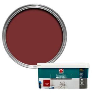 V33 Renovation Chilli Red Satin Wall Tile Paint 2L
