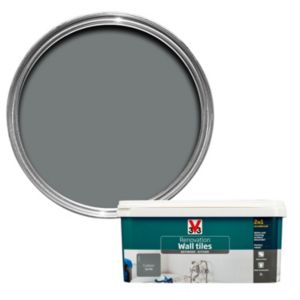 V33 Renovation Carbon Satin Wall Tile Paint 2L