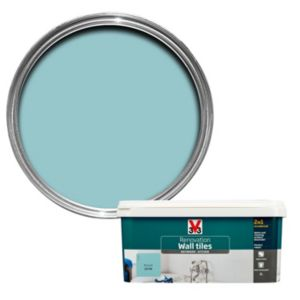 V33 Renovation Azure Satin Wall Tile Paint 2L