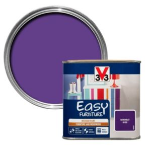 V33 Easy Ultraviolet Gloss Furniture Paint 500 ml
