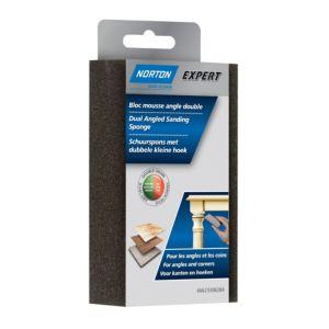 Image of Norton Expert 100/60 Grit Fine/medium Dual-angled sanding sponge