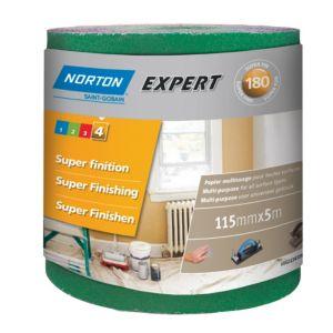 Image of Norton 180 Grit Extra fine Sandpaper roll