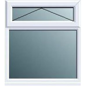 View White PVCu Top Hung over Fixed Lite Window (H)970mm (W)1190mm details