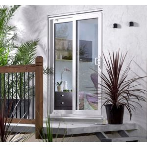 View 5ft White Glazed PVCu External Sliding Patio Door (H)2050mm (W)1490mm details