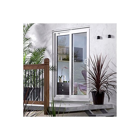 6ft white pvcu glazed sliding patio door h 2050mm w for 6ft sliding patio doors
