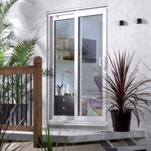 View 6ft White PVCu Glazed Sliding Patio Door, (H)2050mm (W)1790mm details