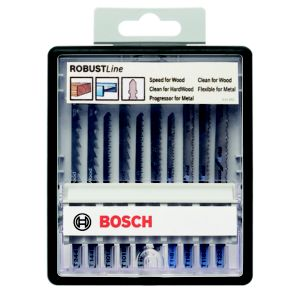 Image of Bosch Bayonet fitting Jigsaw blade set Pack of 10