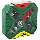 Bosch X-Line Mixed Drill Bit Accessory Set, 34 Piece