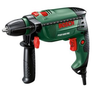 View Bosch 680 W Corded Compact Hammer Drill PSB 680 RE details
