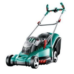 View Bosch Rotak 43 LI Ergoflex Cordless Lithium-Ion Rotary Lawnmower details
