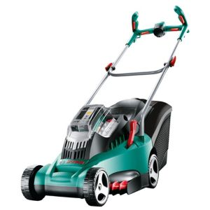 View Bosch Rotak 370 LI Ultra Cordless Lithium-Ion Rotary Blade Battery Powered Lawnmower details