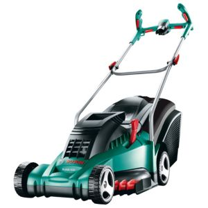 View Bosch Rotak 430 Ergoflex Corded Steel Rotary Lawnmower details