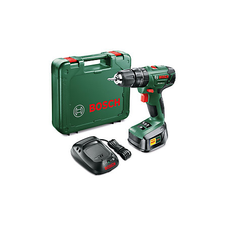bosch cordless 18v 1 5ah li ion combi drill 1 battery psb. Black Bedroom Furniture Sets. Home Design Ideas