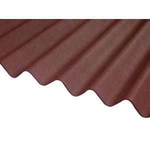Image of Red Bitumen Corrugated Roofing Sheet 2m x 930mm