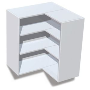 View IT Kitchens White Corner Wall Cabinet (W)625mm details