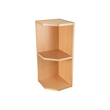 It kitchens beech effect open wall cabinet w 300mm for Beech kitchen wall cupboards