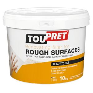 Image of Toupret Rough surface Ready mixed Smoothover finishing plaster 10kg